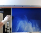 Custom Printed Skylens™ Fluorescent Light Diffuser - Decorative Light Cover - 2' x 4: Panel Being Printed At SBL!