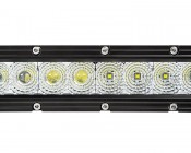 "30"" Off Road LED Light Bar - 150W: Close Up View of Spot & Flood Lenses"