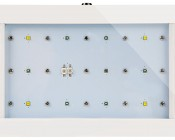 35W LED Aquarium Light, 7-Band Spectrum: Front View