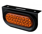 "Oval LED Truck Trailer Light with Built In Bracket - 6"" LED Stop Turn Tail Light with 24 LEDs"