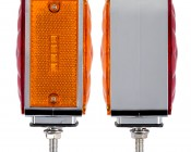 """Square LED Pedestal Truck and Trailer Lights - 4.25"""" Double-Face Brake/Turn/Clearance/Tail Lights- Profile View of Left Light"""