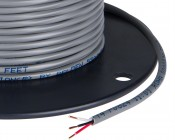 PVC Jacketed 3 Conductor 22 AWG Power Wire PP FRPVC Gray