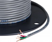 PVC Jacketed 5 Conductor 22 AWG Power Wire PP FRPVC Gray