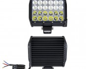 "6.5"" Quad Row Heavy Duty Off Road LED Light with Multi Beam Technology - 72W: Front & Back View"