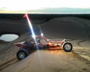 """4"""" Quad Row Heavy Duty Off Road LED Light with Multi Beam Technology - 36W: Installed On Sand Rail"""