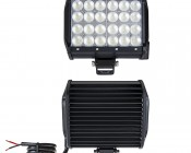"""6.5"""" Quad Row Heavy Duty Off Road LED Flood Light - 72W: Front & Back View"""
