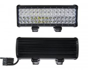 """15"""" Quad Row Heavy Duty Off Road LED Light with Multi Beam Technology - 180W: Front & Back View"""