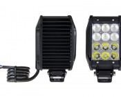 """4"""" Quad Row Heavy Duty Off Road LED Light with Multi Beam Technology - 36W: Front & Back View"""