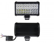 """9"""" Quad Row Heavy Duty Off Road LED Light with Multi Beam Technology - 108W: Front  & Back View"""