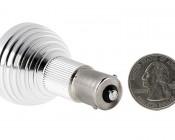 R12 LED Bulb - 8 LED 1156 Bulb - BA15S Retrofit: Back View with Size Comparison