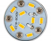 R12 LED Bulb - 8 LED 1156 Bulb - BA15S Retrofit: Top View