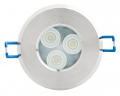 6 Watt Recessed LED Downlight, G-LUX series: Front View