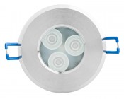 Waterproof Recessed RGB LED Downlight, G-LUX series: Front View