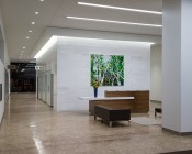 "5"" Round LED Panel Light - 9W: Shown Installed In Condo Lobby Area."