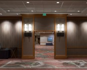 """Replacement LED Downlights for 6"""" Fixtures - 65 Watt Equivalent LED Can Light Replacement - Integral Junction Box - 650 Lumens: Shown Installed In Hotel Ballroom Entryway Ceiling."""
