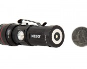 Rechargeable LED Flashlight with Charging Dock - NEBO REDLINE RC : Back View with Size Comparison