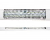 Rectangle Dome Light LED Fixture with Switch: Front & Profile View