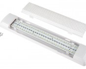 Rectangle Dome Light LED Fixture with Switch: Pop Off Lens To Access Mounting Screws & Holes
