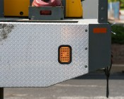 "Rectangle LED Truck Trailer Light - 5"" LED Stop Turn Tail Light with 24 LEDs: Shown Installed On Work Truck."