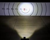 "6.5"" Rectangular 100W Super Duty High Powered LED Work Light: Beam Pattern On Target From 30 Feet Away"