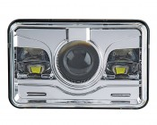 Rectangular H4651 LED Projector Headlights - LED Headlights Conversion: Front View