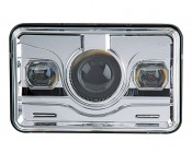 Rectangular H4656 LED Projector Headlights - LED Headlights Conversion: Front View
