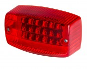 """Rectangular LED Tail Light for Trailers and Golf Carts - 4-1/2"""" LED Stop Turn Tail Light with 18 LEDs"""