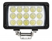 """6"""" Rectangular 45W Heavy Duty High Powered LED Work Light: Front View"""