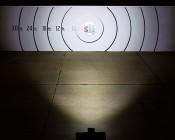 "6"" Rectangular 45W Heavy Duty High Powered LED Work Light: Beam Pattern On Target From 30 Feet Away"