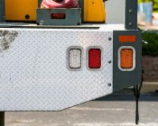 "6"" Rectangle LED Back-Up Truck Trailer Lights with Built In Flange"