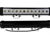 """18"""" Red/White LED Off Road Light Bar - 24W: Front & Back View"""