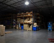 LED Retrofit Kit for 500W HID Fixtures - 11,200 Lumens: Shown Installed In High Bay Fixture Approximately 15' From Floor.