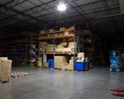 LED Retrofit Kit for 750W HID Fixtures - 18,000 Lumens:  Shown Installed In High Bay Fixture Approximately 15' From Floor.