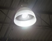 LED Retrofit Kit for 750W HID Fixtures - 18,000 Lumens: Shown Installed In High Bay Light Fixture.