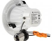 """LED 4"""" Retrofit Luminaire - Can Light Conversion Kit - 9w: Back View"""
