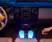 LED Angel Eye Headlight Accent Light Kits: Installed in Cup Holders of Ford Truck