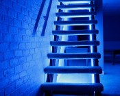 Three Color RGB LED Dimmer with Digital Display and RF Remote Install On Stairs