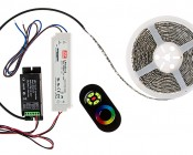 RGB LED Controller - Wireless RF Touch Color Remote with Dynamic Modes - 6 Amps/Channel: Connection