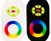 RGB LED Controller - Wireless RF Touch Color Remote with Dynamic Modes - 6 Amps/Channel: Front View of Remote, Available in Black or White