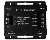 RGB LED Controller - Wireless RF Touch Color Remote with Dynamic Modes - 8 Amps/Channel