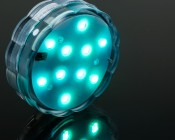 Submersible RGB LED Accent Light w/Remote: Turned On