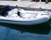 """LED Boat Light - 2"""" Square Spot or Spreader Light - 10W: Shown Installed On Bow Of Boat."""
