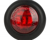 """Round LED Truck and Trailer Lights w/ Grommet - 3/4"""" PC Rated LED Side Clearance Light w/ 3 High Flux LEDs - Pigtail Connector"""
