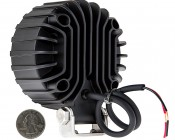 """4"""" Round 10W Super Duty High Powered LED Spot Light: Back View"""
