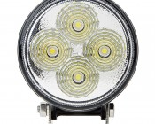 """3.25"""" Round 12W Heavy Duty High Powered LED Work Light - Black: Front View"""