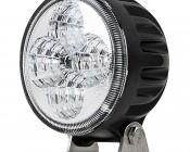 "3.25"" Round 12W Heavy Duty High Powered LED Work Light - Black"
