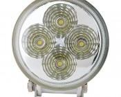 """3.25"""" Round 12W Heavy Duty High Powered LED Work Light - White: Front View"""