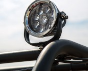 "LED Golf Cart Light - 5-1/2"" Round - 45W: Mounted Onto Golf Cart"