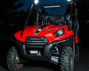 "5.5"" Round 45W Heavy Duty High Powered LED Work Light: Mounted Onto An ATV"