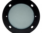 120V LED Step Lights - Window Round Step Accent Light with Faceplate - 88 Lumens